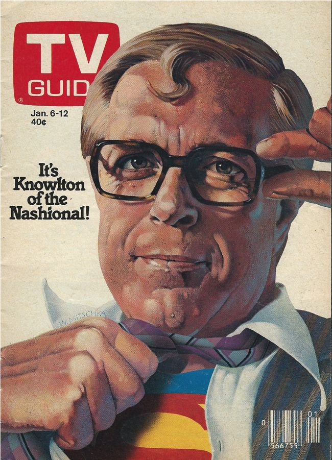 Knowlton Nash TV Guide Canada Jan 6 1979 Cliff Edge